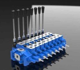 Alívio hidráulico combinada Spool HCD6 de válvula de controle direcional