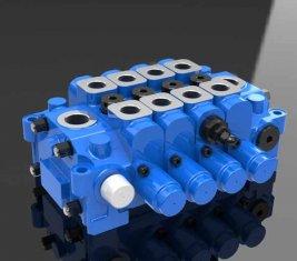 Válvula de controle Multi direcional hidráulica 4GCJX-G18L para engenharia