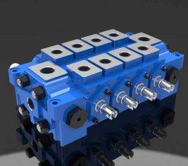 Múltiplo hidráulico combinada válvula de controle direcional DL para engenharia