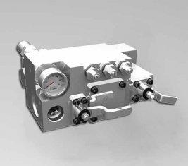 420 / 400 Bar Manual água controle direcional válvula CLSF38-1