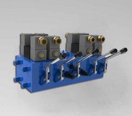Electro CMJF20 de válvula de controle direcional hidráulica para 80 / 210 l/min
